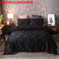 Luxury Duvet Cover Set Queen King Size Pinch Pleat Brief Bedding Sets Comforter Cover Pillow cases Bedding Sets    -