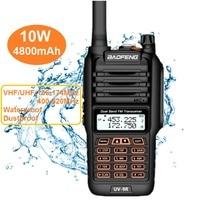 2020 BAOFENG UV 9R PLUS 10W Powerful Walkie Talkies Waterproof Dual UHF VHF Marine CB Ham Radio Hunting HF Transceiver UV 9R