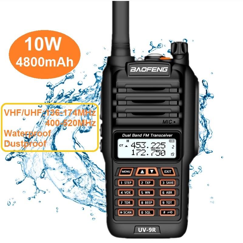 2020 BAOFENG UV-9R Plus 10Watt Handheld Walkie Talkie Waterproof IP67 Dual Band UHF VHF HF Transceiver Marine CB Ham Radio UV 9R