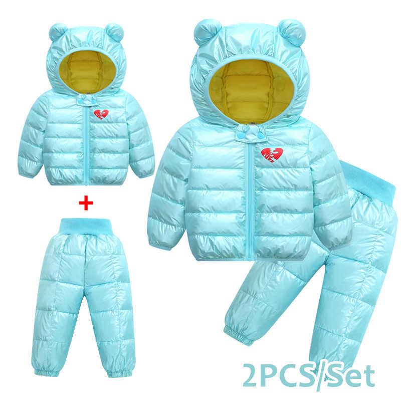 Winterjas jongen/зимнее пальто для девочек и мальчиков детское пуховое пальто Зимние куртки верхняя одежда для девочек детская одежда комплект из 2 предметов doudoune fille