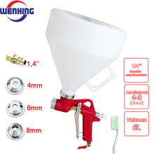 Spray-Gun Paint-Texture-Tool Drywall Wall-Painting Air-Hopper 3-Nozzle WENXING