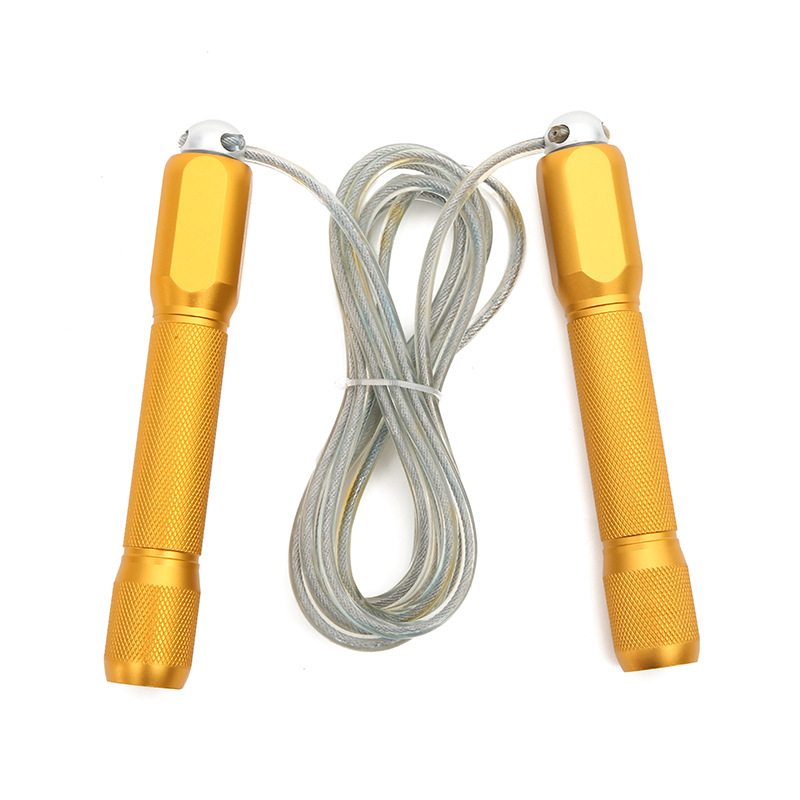 2019 New Style Wire Rope Jump Rope Aluminium Alloy Handle Adult Weight Fitness Jump Rope
