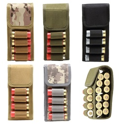 Tactical 12G Bullets Pouch 600D Nylon Hunting Shells Ammo Package Portable Outdoor 16-Hole Bullet Bags Organizer