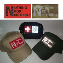 1PC Reflective IR World No Free Lunch NOTHING FOR  Chapter Fan Morale Badge Denim Jacket Backpack Patch Icon