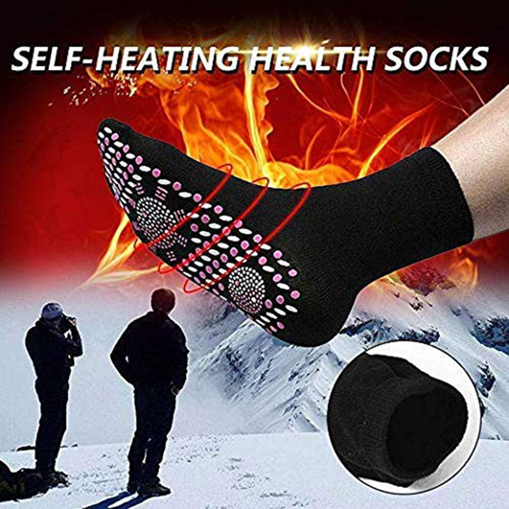 Health Care Tourmaline Deodorize Self Heating Soft Sports Magnetic Therapy Warm Wear Resistant Stimulate Washable Adult Socks