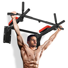 OneTwoFit Wall Mounted Pull Up Bar Chin Up Exercise Bar Gym Dip Station Home Full Body Trainer with Punching Bag Eyelet OT066N