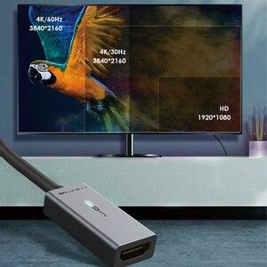Image 5 - كابل USB C إلى HDMI محول 4K/60Hz مطلية بالذهب الألومنيوم قذيفة نوع C إلى HDMI محول لماك بوك اير Matebook شاومي C316