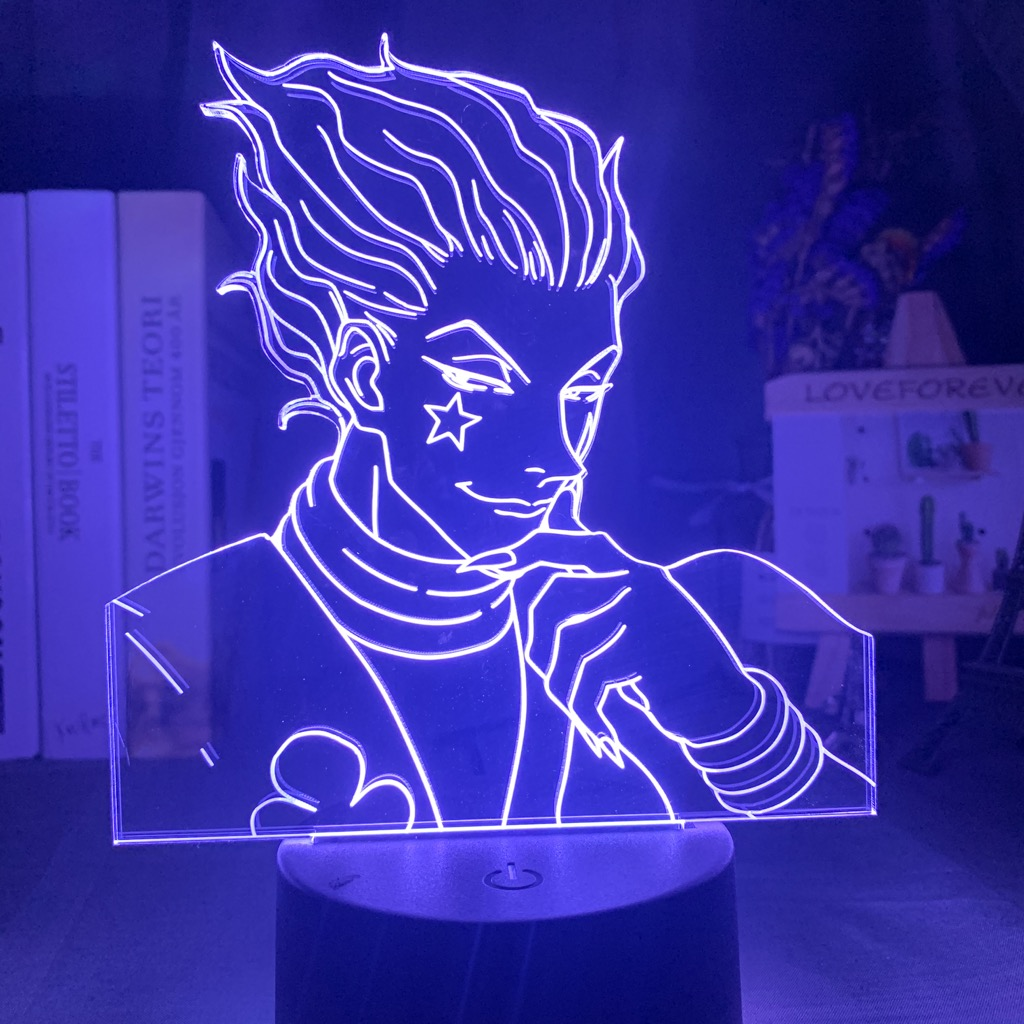 Customize Usb Led Night Light Touch Bedroom Night Light For Children Anime Hunter X Hunter Decor Light 3d Lamp Hisoka Gadgets