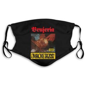 Металлическая шлифовальная маска Brujeria Machetazos Death с официальным принтом Мужская маска для рта для женщин мужчин детей PM2.5 PM2.5
