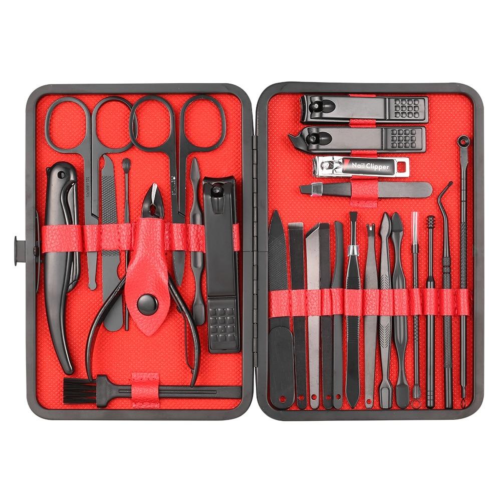 7-26PCS Manicure Set Pedicure Sets Nail Clipper Sets Nail Kit Professional Set Nail Cutter Manicure Kit Tools for Manicure Tool