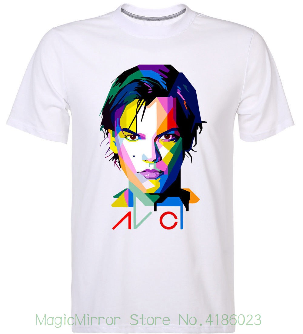Avicii Inspired Art Collage Design Printed T-shirt Edm Legend Dance Music Shirts T Shirt Funny T-shirt Men image