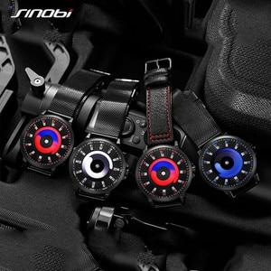Image 5 - SINOBI New Creative Sports Quartz Wirstwatch Men Miyota Movement Watch Mens TOP Watches Fashion Rotation Clock Relogio Masculino