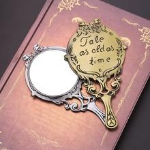 1 Uds espejo creativo diseño vintage espejo de maquillaje espejo redondo espejos cosméticos belleza mujeres niñas maquillaje herramienta