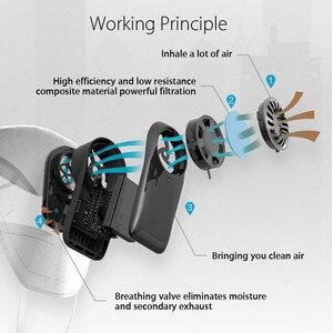 Image 4 - Originele Puur Anti Vervuiling Air Gezichtsmasker Met PM2.5 550Mah Battreies Oplaadbare Filter Van Youpin