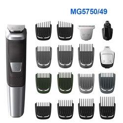 100% oryginalny Philips wielofunkcyjna golarka elektryczna maszynka do włosów Norelco MG5750/49 Multigroom wszystko w jednym trymer serii dla mężczyzn
