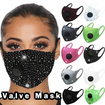 Unisex Adult Diamond Breathable Mouth mask Unisex Face Protection Face Mask Reusable Washable Outdoor Protective PM 2.5 Dust