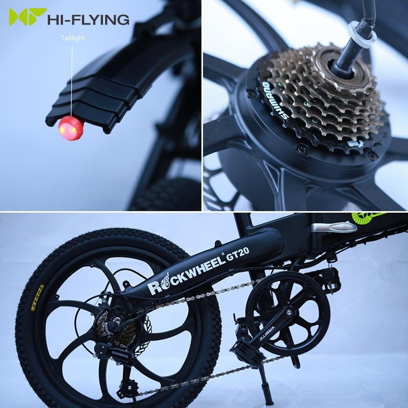 Electric Folding GT20 Bike Three Riding Modes ebike 350W Motor e bike 60KM Range Electric Bicycle 20 inch tire scooter 6