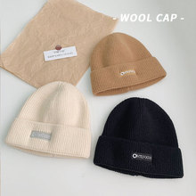 Cap Women Beanies Hat Wool-Hat Couple Knitted Warm Trendy Winter Fashion Pullover All-Match