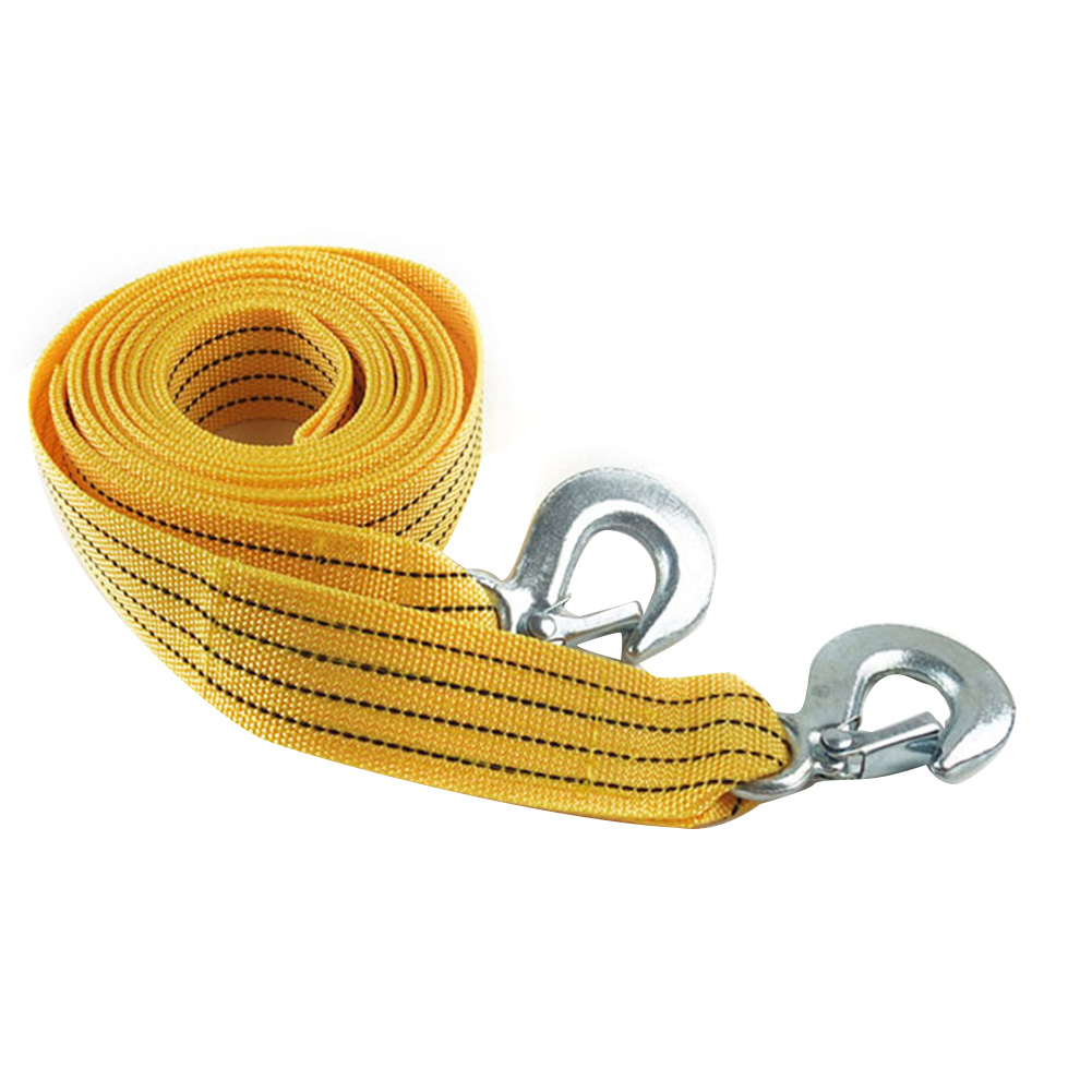 3 Tons Fluorescent High Strength Towing Rope Practical With Hooks Emergency Durable Accessories Truck Car Reduce Vibration Nylon