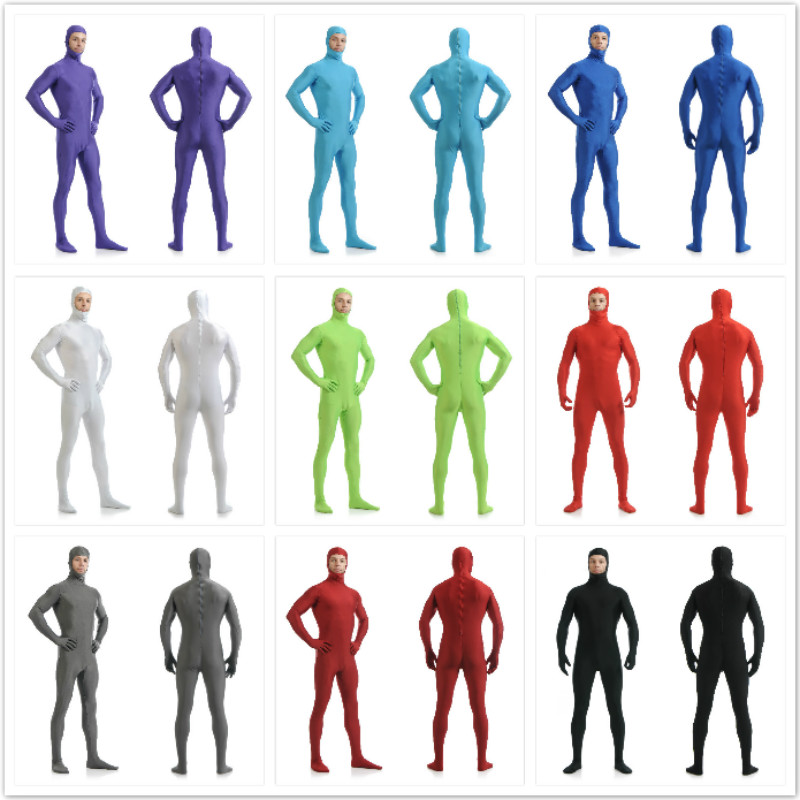 Brand New <font><b>Mens</b></font> Costume Sexy Full Body <font><b>Latex</b></font> Costume Leather Jumpsuit Sexy <font><b>Catsuit</b></font> Stretch Zentai Wholesale Open Face zentai image