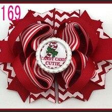 C 30 шт. Рождественский бант для волос карамельный тростник бант Санта заколка для волос оленьи рожки на ободке слоистые милые банты