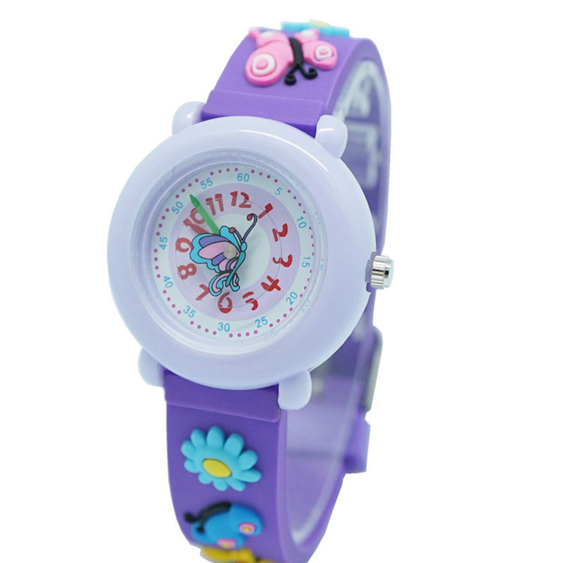 Children\'S 3D Silicone Cartoon Watch Cute Waterproof Quartz Watch Girls Watch Jelly Kids Watch
