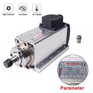 Image 3 - 1.5kw 공기 냉각 스핀들 모터 110V/220V 스퀘어 공기 냉각 스핀들 밀링 스핀들 CNC 조각 목재 라우터