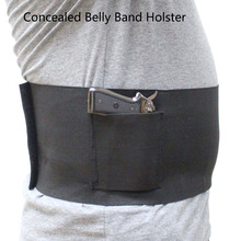 Tactical Concealed Belly Band Gun Holsters Under Cover Elastic Pistol Holster with 2 Magazine Pouches