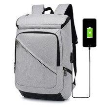 купить Men's Laptop Bags Usb Charging Port Smart Portable Backpack Multi-function Leisure Simple Student School Bag дешево
