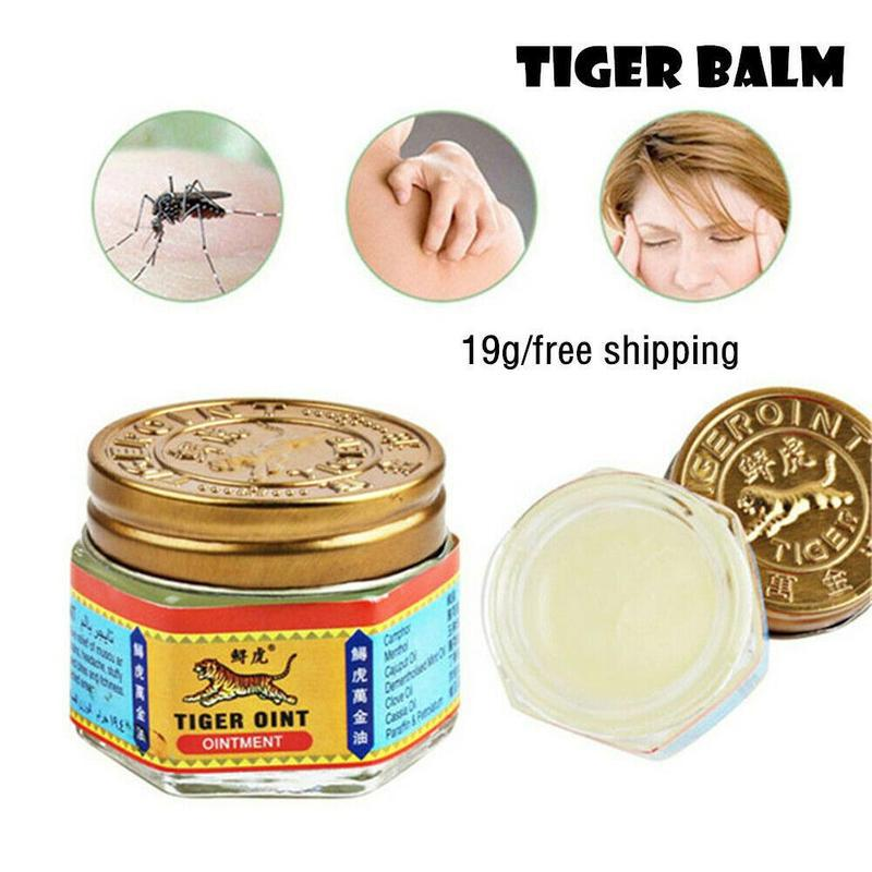 Original Thailand Painkiller Tiger Ointment Balm White Tiger Balm Ointment Muscle Pain Relief Ointment Soothe Itch Dizziness