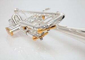 Image 3 - BULUKE Tromba strumento Musicale Bb tromba piatta Classificazione preferito Slivered placcato tromba prestazioni professionali
