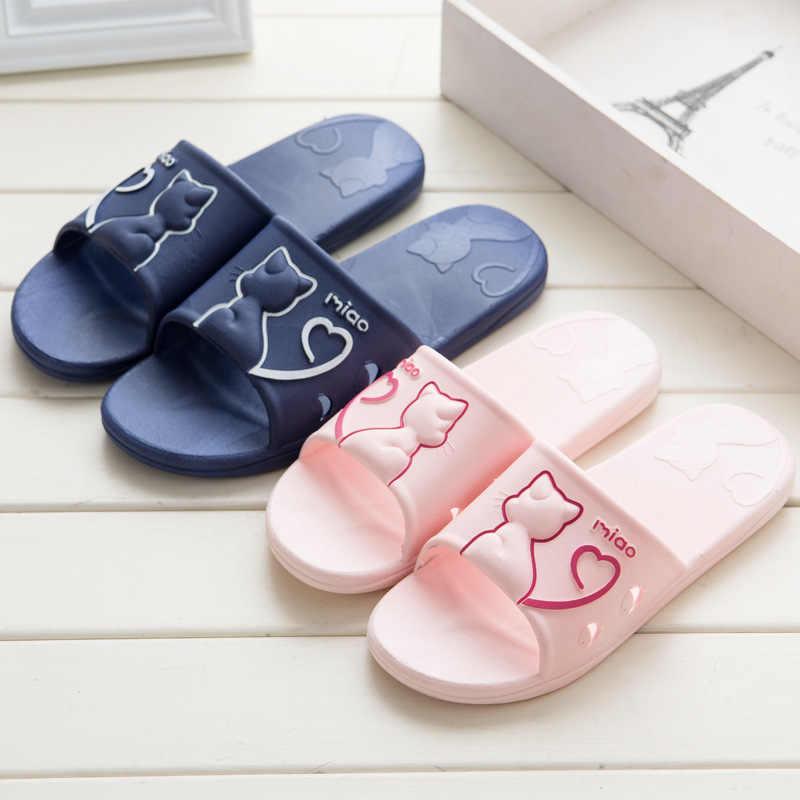 Women Slippers Indoor Flip Flops 2019 Winter Warm Fashion Platform Silent Non-Slip Shoes Women Slides
