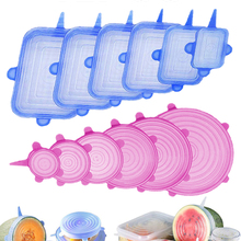 Silicone Caps Cookware-Accessories Wrap-Seal Stretch-Bowl-Lids Food-Cover Adjustable