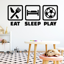 цена на Hot Eat Sleep Play Environmental Protection Vinyl Stickers For Baby's Rooms Removable Decor Wall Decals