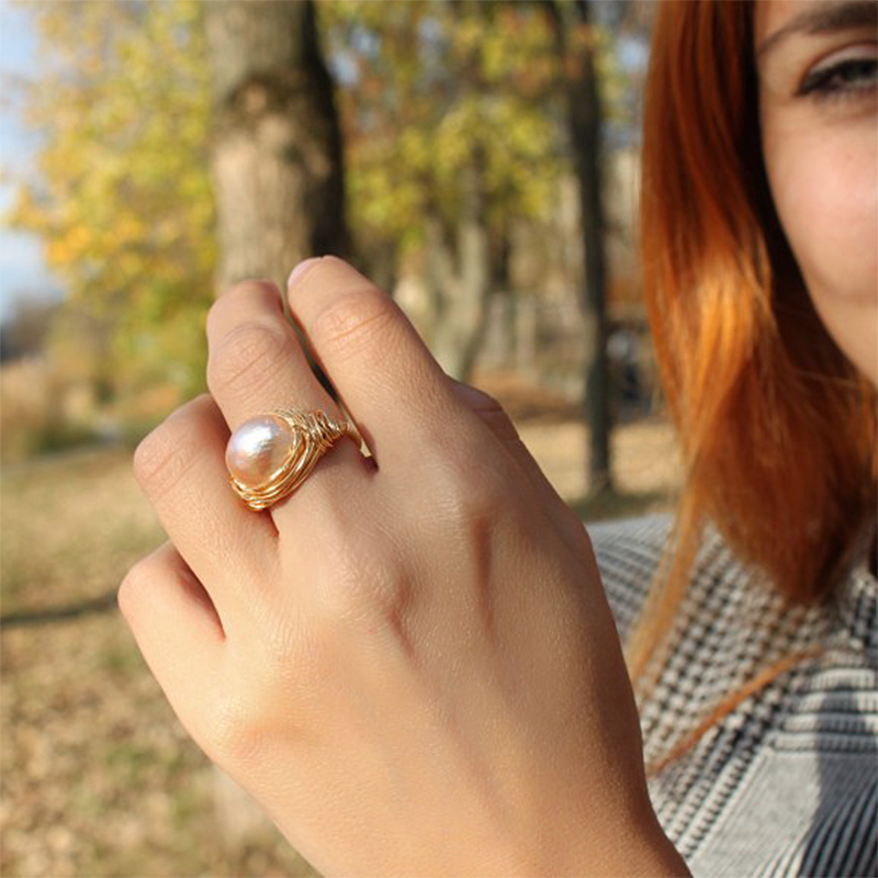 大珍珠戒指