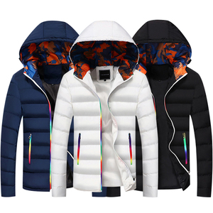 Image 2 - Winter Jacket Men Hooded Thick Warm Duck Down Parka Coat Mens Casual Slim Jacket Male Overcoat 2020 New Fashion Parkas Plus 5XL