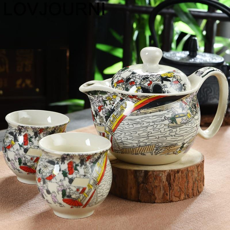 Decoration Vintage Cucina Afternoon Teaset Aksesuarlari With Infuser Mutfak Shabby Chic Teaware Teapot Pot Chinese Tea Set