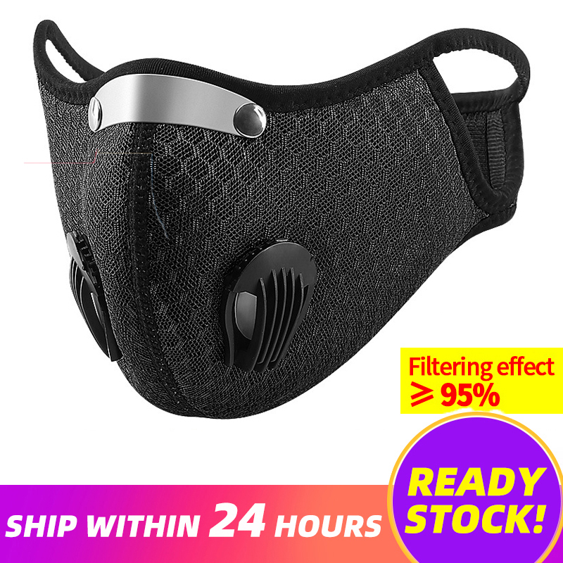 Dust Mask Activated Carbon Windproof Anti-flu Masks Pm2.5 Anti-pollution Mask Reusable Mask With Breathing Valve Face Mouth Mask