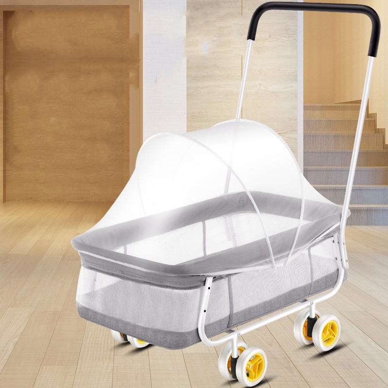 Baby Furniture Push Cribs Portable Bed Baby Pouch Bed With Wheel Kids Bad Newborn Bed Portable Foldable Crib For Bebe Newborn