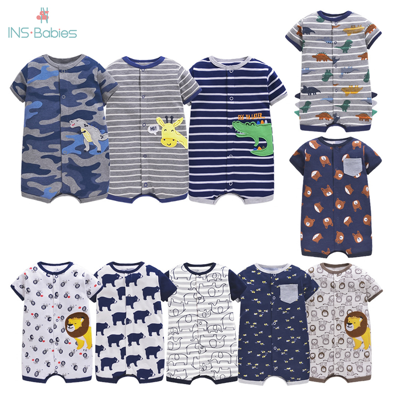 Romper For Newborn Baby Boys Unisex Baby Clothes Ins Short Sleeve Jumpsuit Summer Babies Halloween Costume Toddler Costume 2020