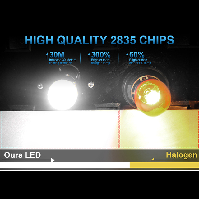 HLXG 2Pcs 1156 BA15S P21W LED T15 W16W P27W 7440 W21W W21/5W LED Bulb 1157 bay15d P21/5W LED Signal Lamp Brake Reverse Car Light|Signal Lamp|   -