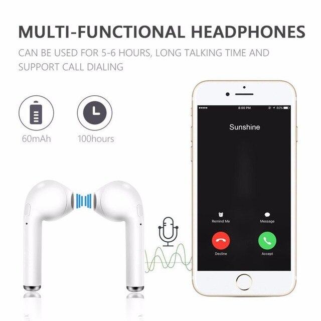 i7s TWS Wireless Earphones Bluetooth headphones sport Earbuds Headset With Mic Earpiece For Iphone Xiaomi Samsung Huawei oppo 5