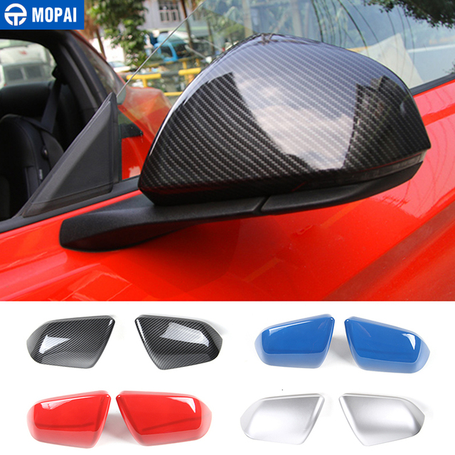 MOPAI Mirror Covers for Car Exterior Side Rearview Mirror Decoration Cover ABS Stickers for Ford Mustang 2015 Up