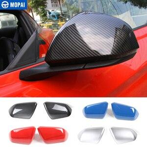 Image 1 - Mopai Spiegel Covers Voor Auto Exterieur Side Achteruitkijkspiegel Decoratie Dekking Abs Stickers Voor Ford Mustang 2015 Up