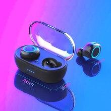 Écouteurs sans fil portables Bluetooth 5.0, oreillettes tactiles, son stéréo 3D, Microphone, Y50 TWS
