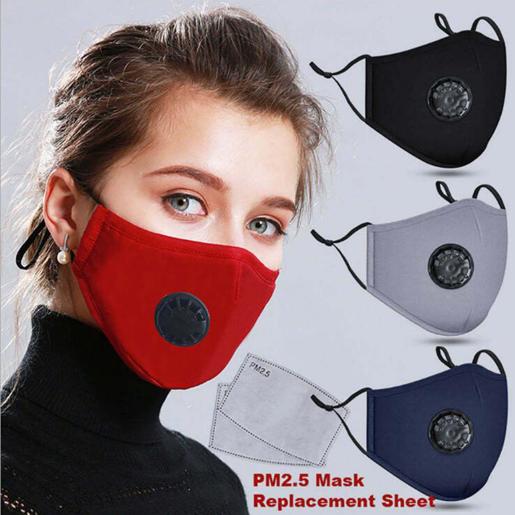 1Pcs Face Mask Dust Mask Pm2.5 Filter Anti Pollution Mask PM2.5 Filter Mouth Cover Insert Can Be Washed Reusable Mouth Masks