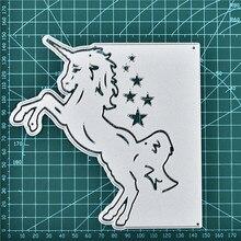 Naifumodo Unicorn Border Metal Cutting Dies Christmas Stencils for DIY Scrapbooking Embossing New