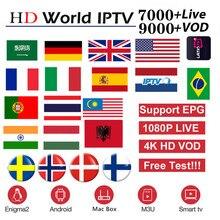 цена на Full Europe World HD IPTV Subscription for Arabic Poland Dutch UK German Greece Sweden Nordic USA IPTV M3u smart enigma2 tv b