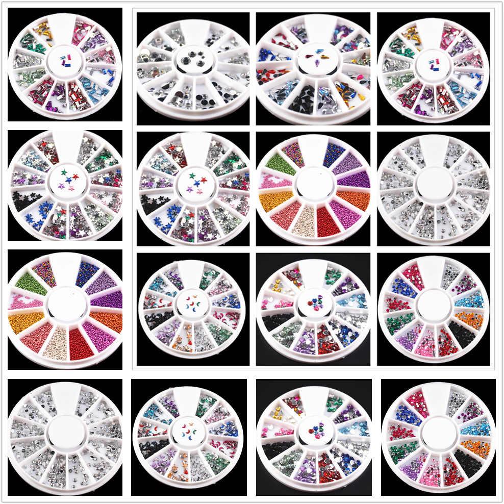 1 個 12 色 Diy のネイルアート石ファイルダストブラシ洗浄バッファスポンジ研磨グリット砂 UV ジェルポリッシュアクリルマニキュアツール