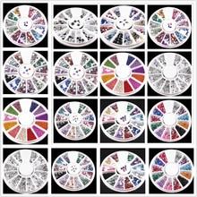 1 piezas. 12 colores DIY uñas arte piedra archivos polvo cepillo limpieza Buffer esponja pulidor arena UV Gel polaco acrílico manicura herramientas